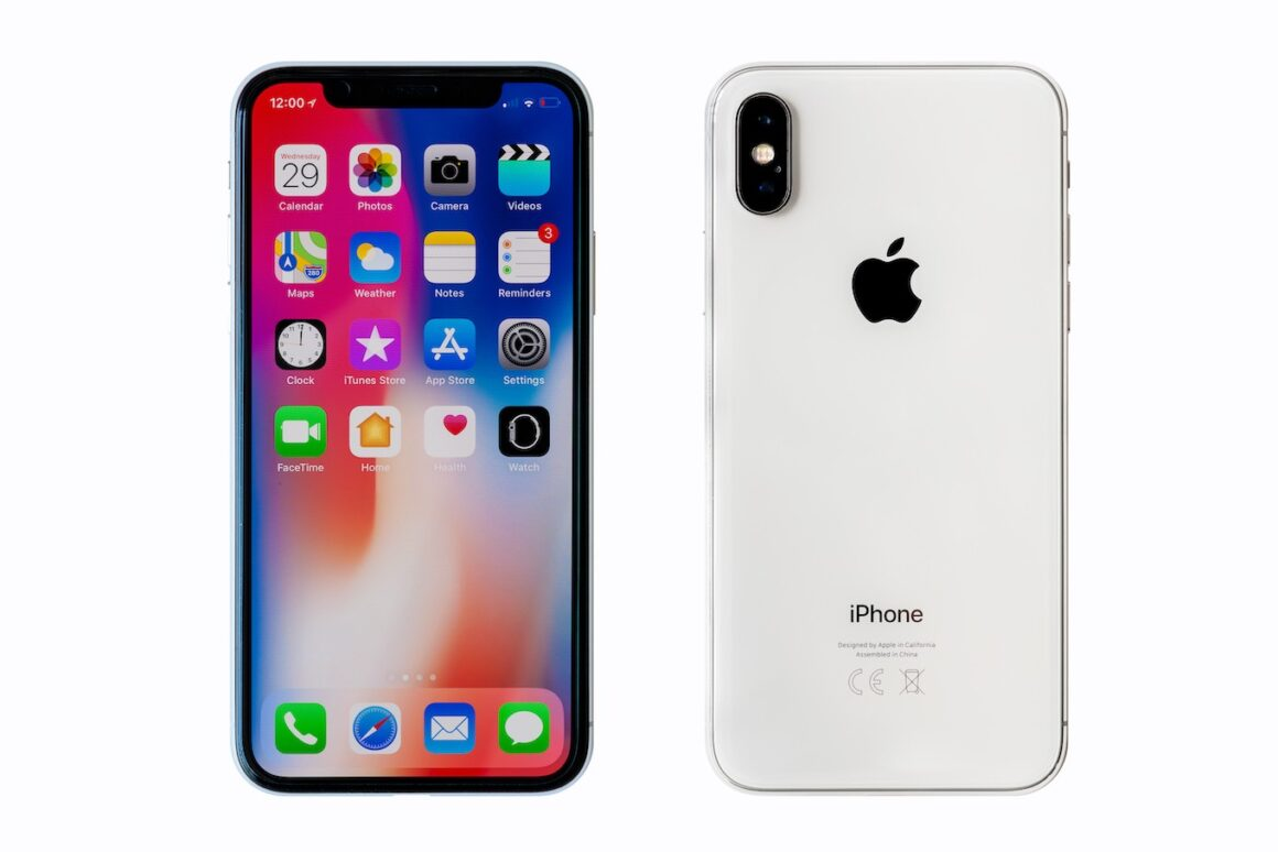 iPhone X, front and back