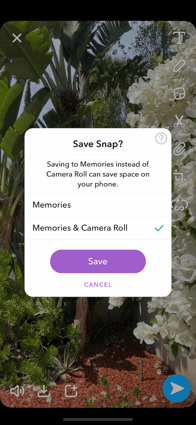 How to save your own Snapchat video from Memories
