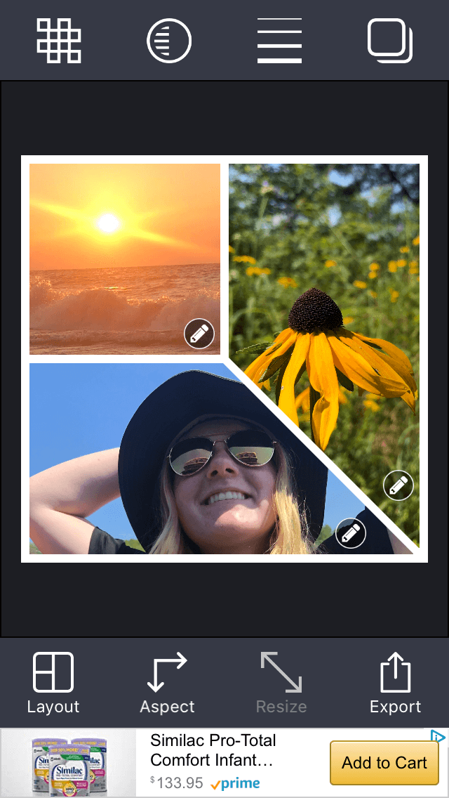 How to put together a photo collage with the Stitch app
