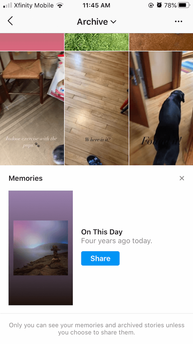 Using Instagram Archive: Post your memories as Stories