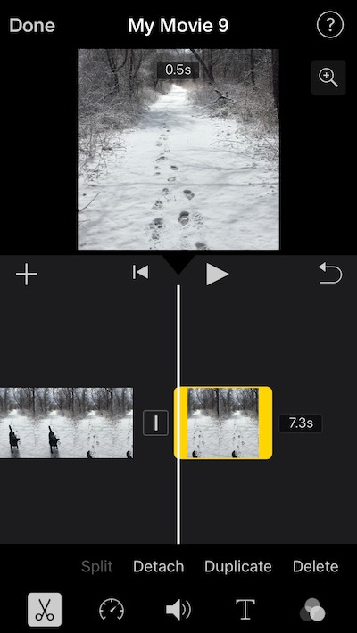 How to shorten a video in iMovie for iPhone