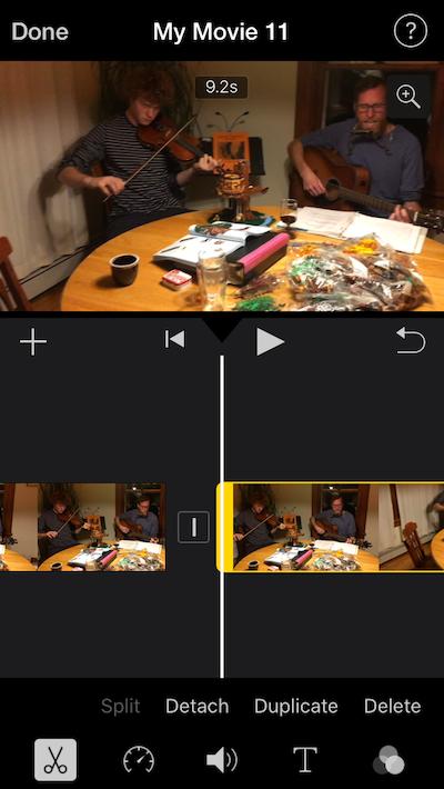 How to shorten a clip in iMovie