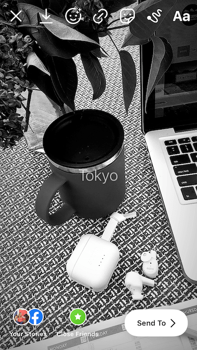 Photo with the Tokyo Story filter applied