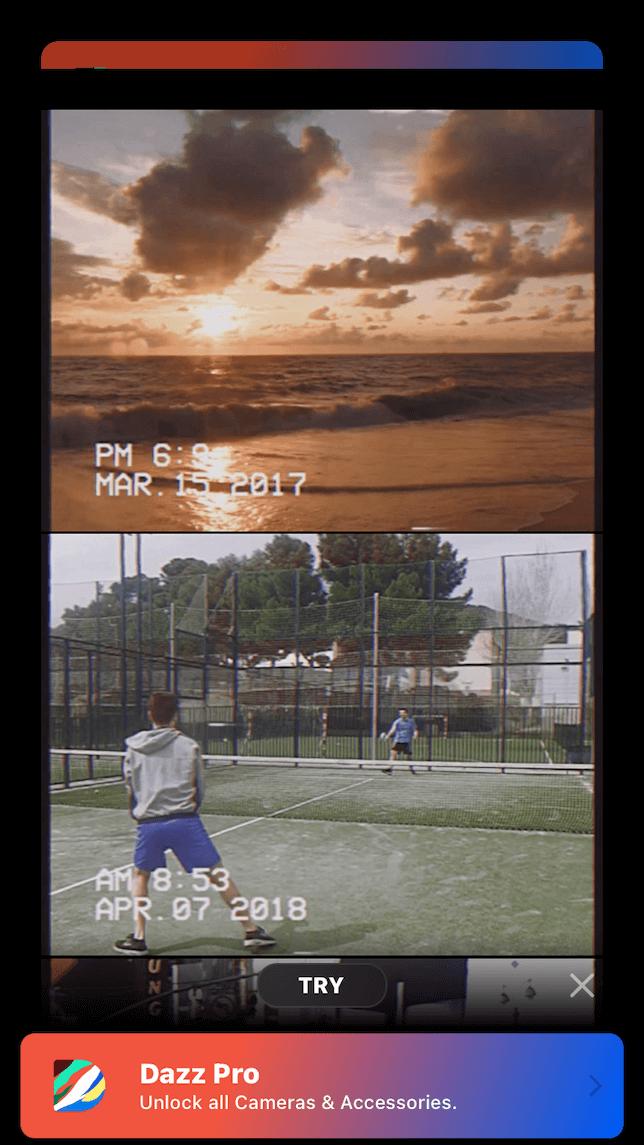 Sample photos taken with Dazz Pro camera app
