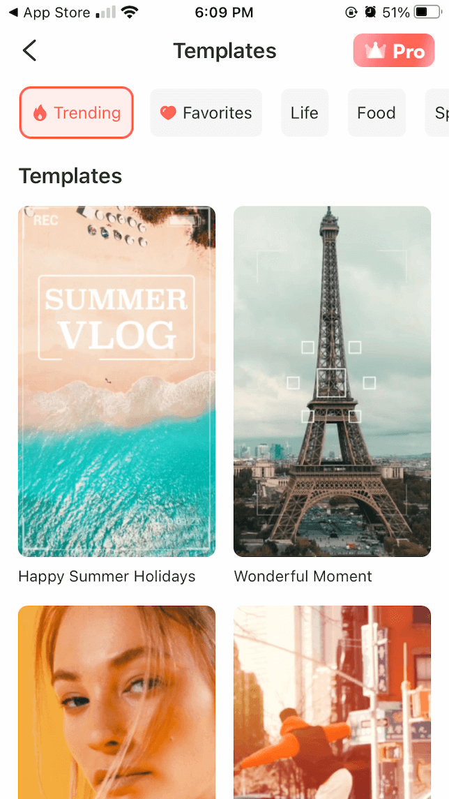 Filmora go video editor templates