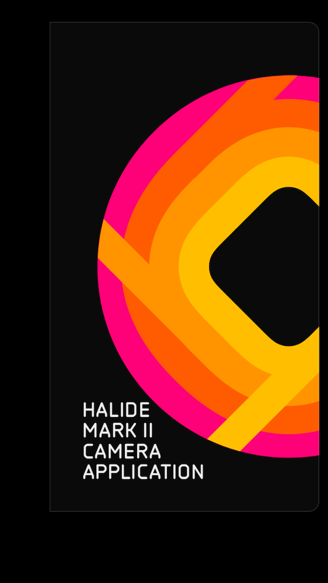 Halide Mark II Camera App intro screen