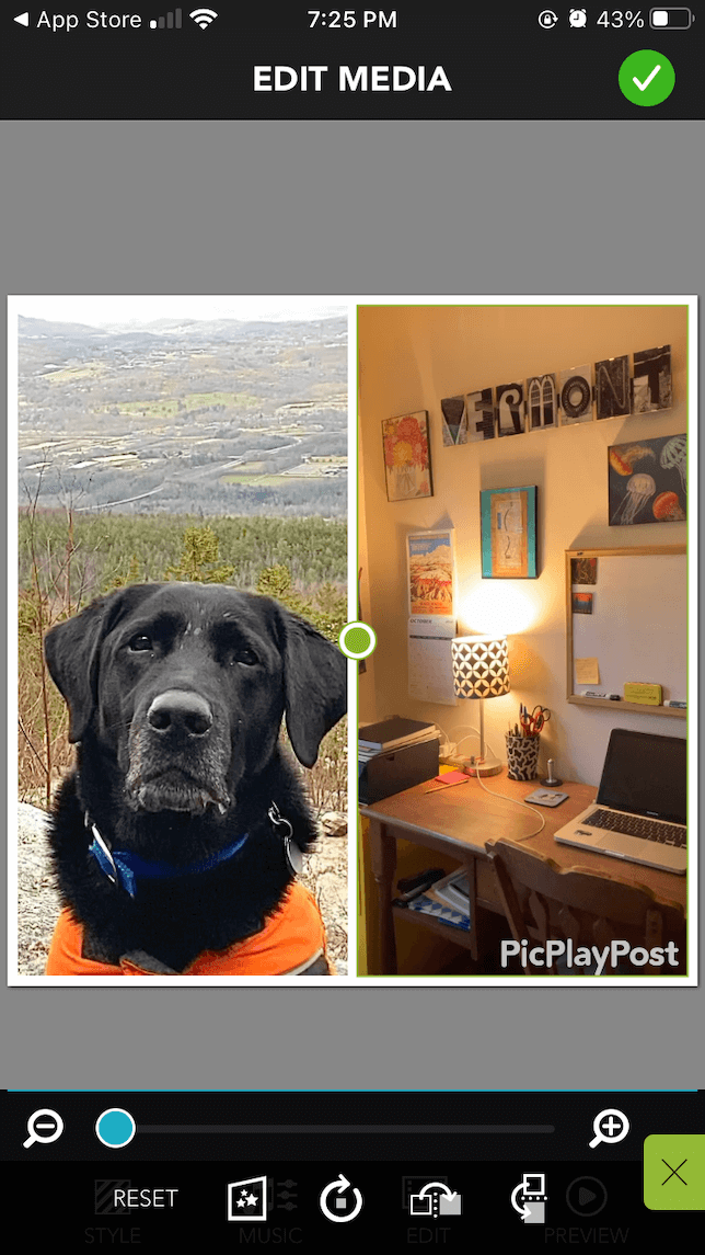 PicPlaPost app screenshot for video collages