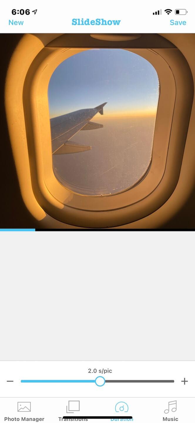 Screenshot showing SlideShow Video Maker