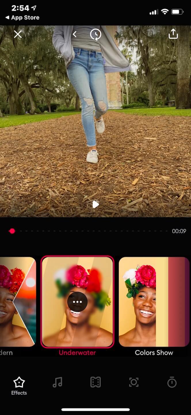 Screenshot showing SlideShow Video Maker App