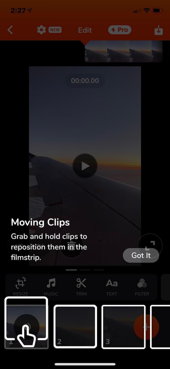 Second screenshot showing Videoshop app