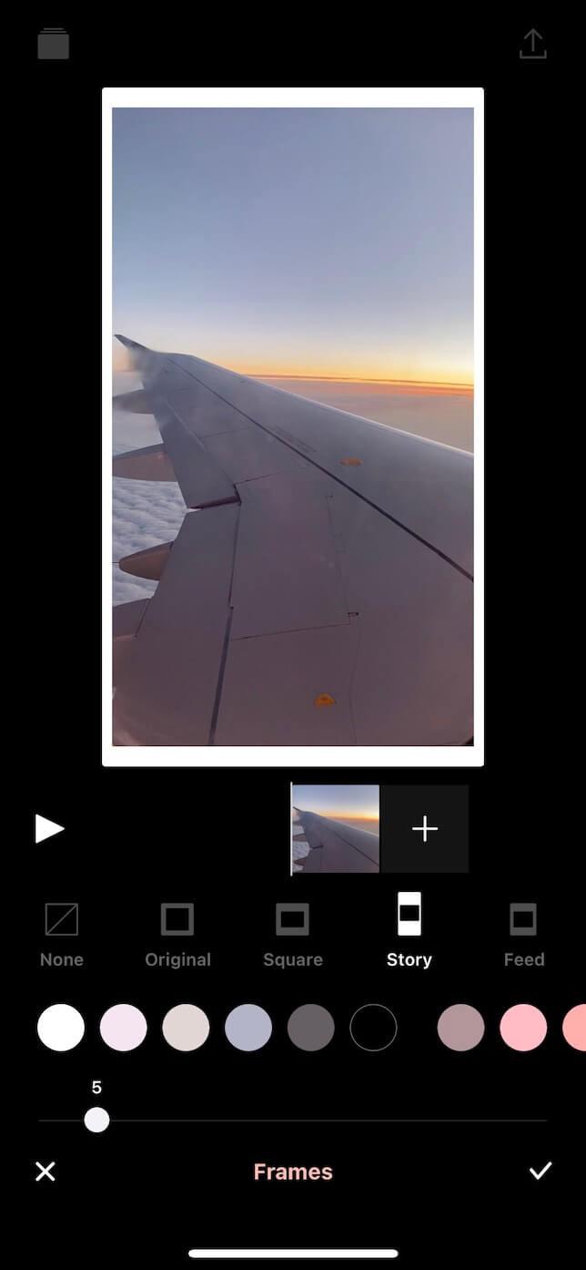 Screenshot showing vixer app