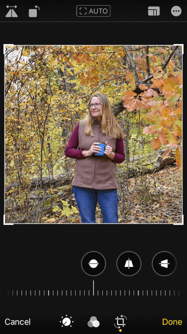 an after shot of a flipped image using Photos app