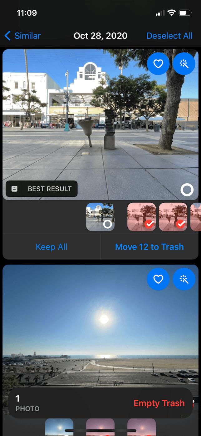 Screenshot of similar pictures in Gemini Photos.
