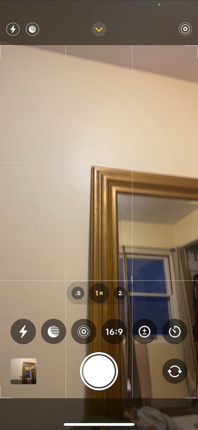 Second screenshot showing how to select the aspect ratio of a photo.