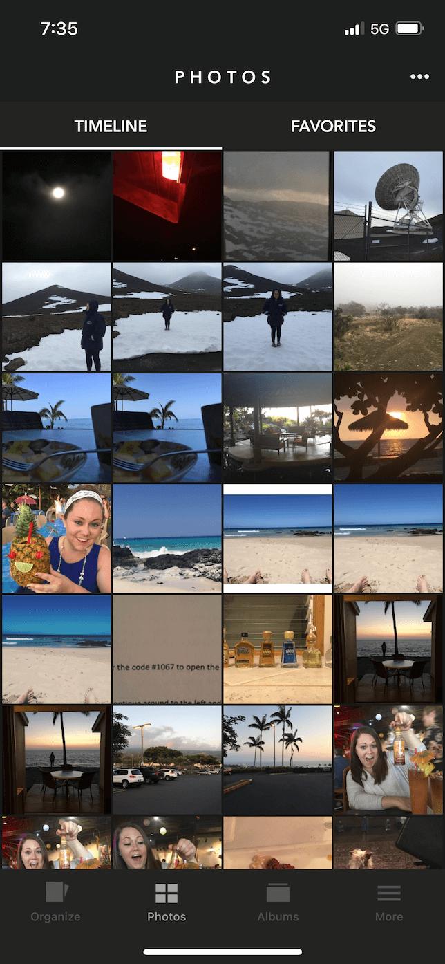 Screenshot of all photos view in Slidebox.