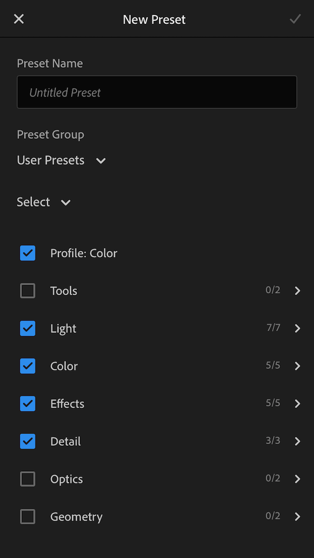 A screenshot showing how to import presets in Lightroom.