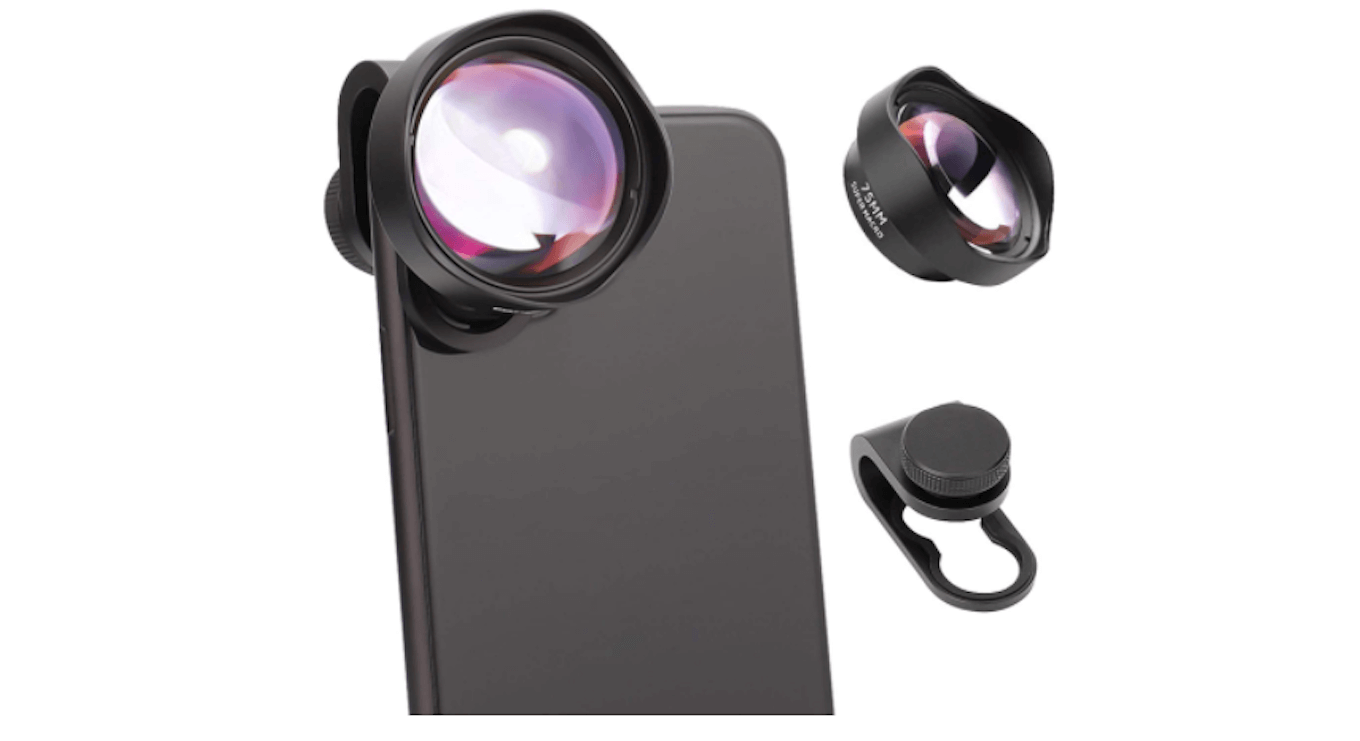 Image of a macro lens made by USKEYVISION for iPhone.