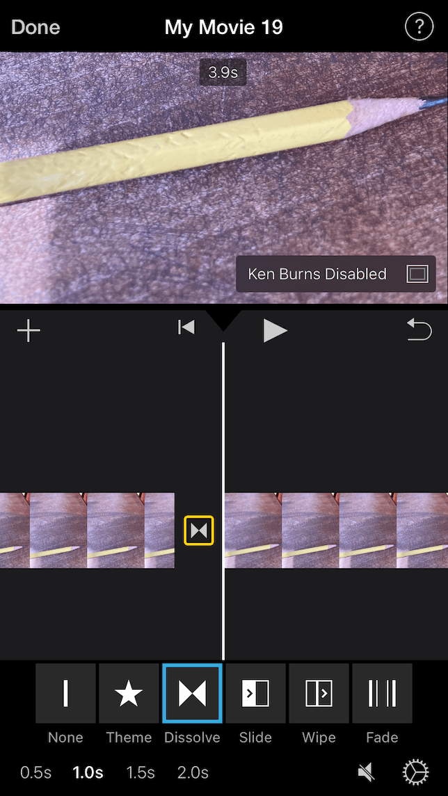 A screenshot demonstrating how to edit a stop-animation video using iMovie.