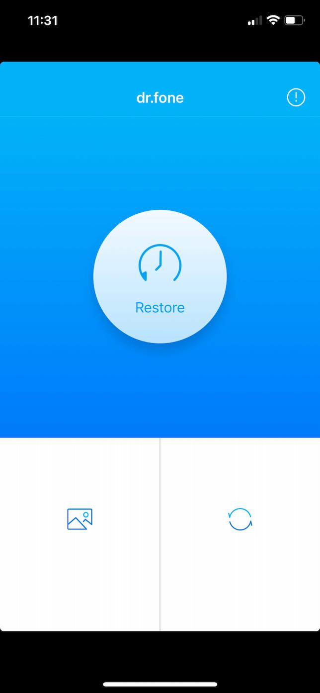 Screenshot of Dr. Fone on iOS.