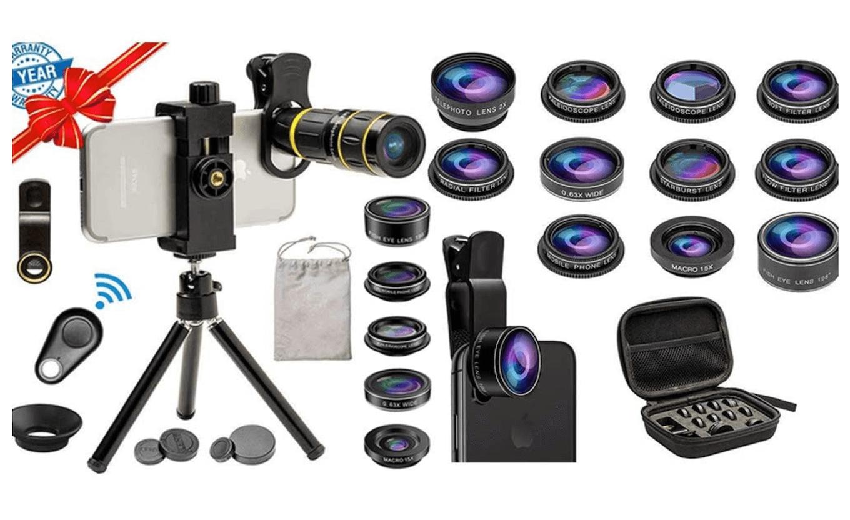 Picture of the Sevenka 6-in-1 Lens Kit.