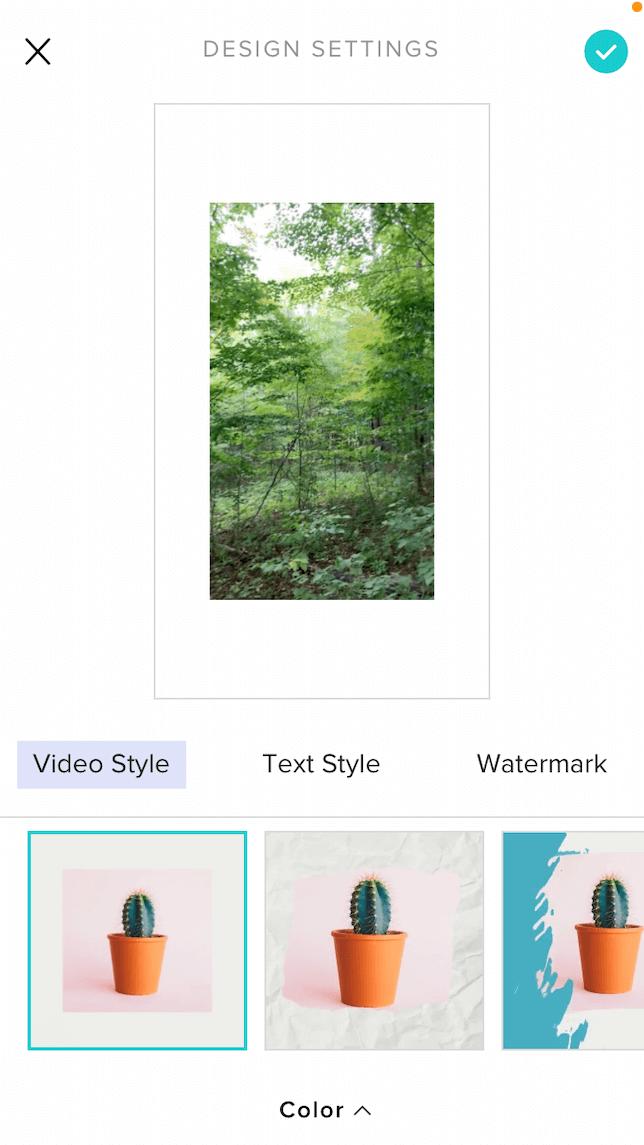 Animoto app for creating social media videos.